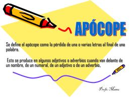 Apócope - Colégio Ari de Sá Cavalcante