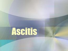 Semiológia II Ascitis
