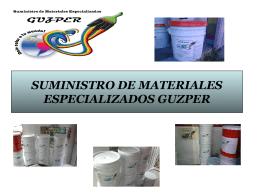SUMINISTRO DE MATERIALES ESPECIALIZADOS GUZPER