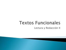Textos Funcionales - Taller de lectura y redacción