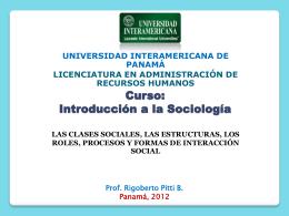 Curso: Introducción a la Sociología