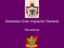33° Grado – Soberano Gran Inspector General -