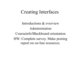 Creating User Interfaces - State University of New