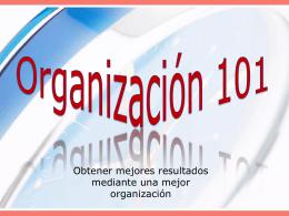 Organización 101