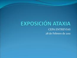 EXPOSICIÓN ATAXIA