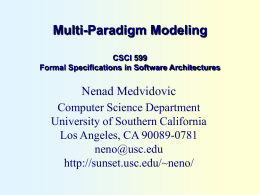 Assessing the Suitability of UML for Modeling