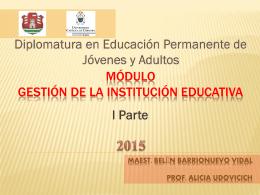Módulo Gestión de la Institución Educativa