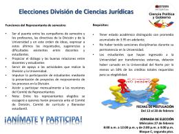 Elecciones División de Ciencias Jurídicas