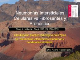 Neumonías Intersticiales Celulares vs Fibrosantes