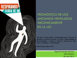 PRONÓSTICO DE LOS ANCIANOS VENTILADOS