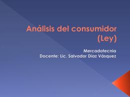 Análisis del consumidor (Ley)