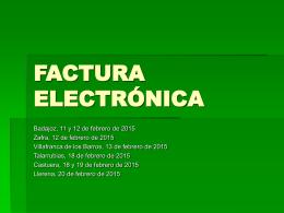 REGISTRO DE FACTURAS ELECTRÓNICAS
