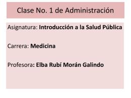 Clases de Administración