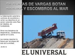 En playas de Vargas botan basura y escombros al