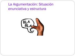 La Argumentación.