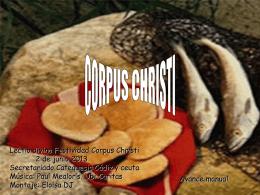 CORPUS CHRISTI - Catequesis de Cádiz y Ceuta |