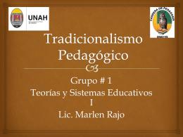 Tradicionalismo Pedagògico
