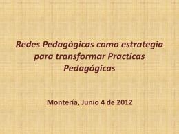 Redes Pedagógicas como estrategia para transformar