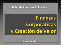 Finanzas Corporativas y Creación de Valor