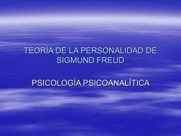 TEORÍA DE LA PERSONALIDAD DE SIGMUND FREUD