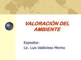 VALORACIÓN DEL AMBIENTE
