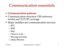 Comp 655 - Communications