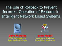 The Use of Rollback to Prevent Incorrect Operation