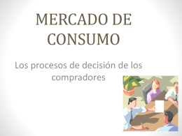 MERCADO DE CONSUMO - Administración y Marketing