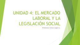 UNIDAD 4: EL MERCADO LABORAL Y LA LEGISLACIÓN