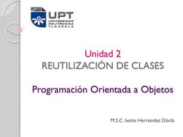 Unidad 2 REUTILIZACIÓN DE CLASES Programación