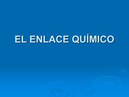 EL ENLACE QUÍMICO - Isabel Fernández
