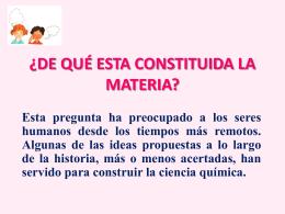 CONSTITUCIÓN DE LA MATERIA - QUÍMICA