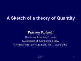 A Sketch of a theory of Quantity