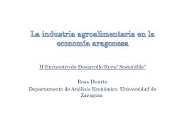 La industria agroalimentaria en la economía