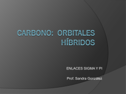 CARBONO: ORBITALES HÍBRIDOS