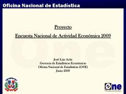 Proyecto Encuesta Nacional de Actividad Económica