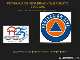 INDUCCIÓN AL SISTEMA NACIONAL DE PROTECCIÓN CIVIL.