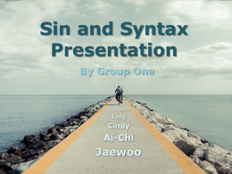 Sin and Syntax Presentation