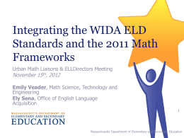 Integrating WIDA ELD Standards to Differentiate