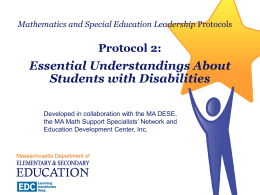 Protocol 2: Essential Understandings About