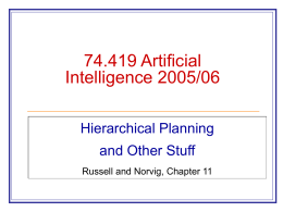 74.419 Artificial Intelligence 2002 Description