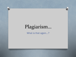 Plagiarism… - Ozarks Technical Community College