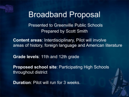 Broadband Proposal Presented to Greenville Public