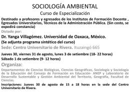 SOCIOLOGÍA AMBIENTAL Curso de Especialización
