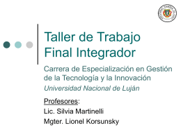 Taller de Trabajo Final Integrador