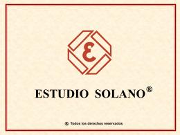 Presentación Estudio Solano