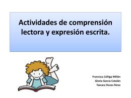 Actividades de comprensión lectora y expresión