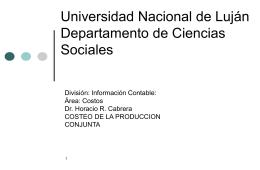 Universidad Nacional de Luján Departamento de