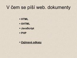 Jazyk HTML - Gymnázium Arabská