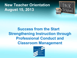 Classroom Management - Baltimore County Public